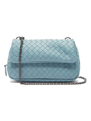Bottega Veneta intrecciato mini leather messenger cross body bag