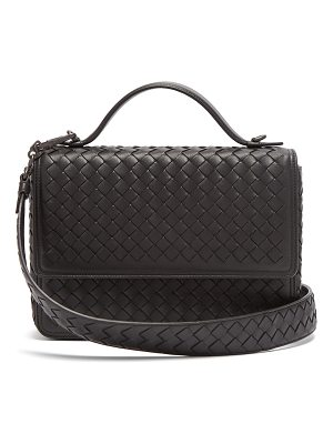 Bottega Veneta Intrecciato-woven leather satchel
