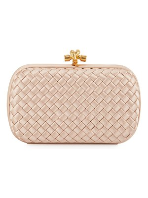 Bottega Veneta Intrecciato Woven Satin Chain Knot Clutch