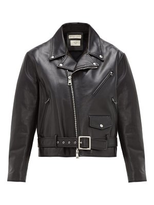 Bottega Veneta leather biker jacket