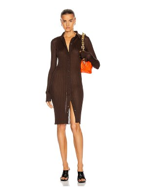 Bottega Veneta long sleeve rib dress
