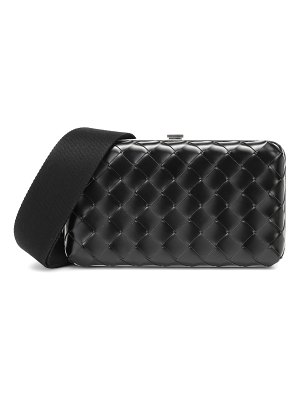 Bottega Veneta messenger intrecciato leather clutch