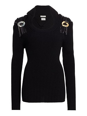 Bottega Veneta metal pin-trimmed ribbed sweater