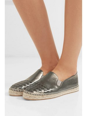 Bottega Veneta metallic intrecciato leather espadrilles