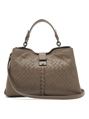 Bottega Veneta Napoli intrecciato small leather bag