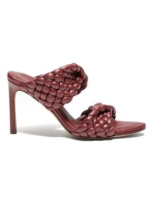 Bottega Veneta padded intrecciato-leather mules