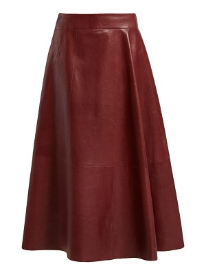 Bottega Veneta panelled leather skirt
