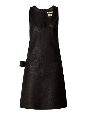 Bottega Veneta patch pocket leather midi dress