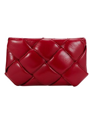 Bottega Veneta Puffer Intrecciato Zip-Top Clutch Bag