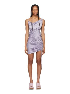 Bottega Veneta purple satin jersey drawstring dress
