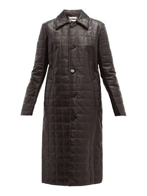 Bottega Veneta quilted leather down filled coat