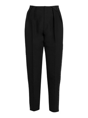 Bottega Veneta ruched satin tuxedo stripe pants