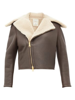 Bottega Veneta shearling and leather jacket