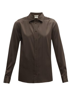 Bottega Veneta silk blend charmeuse shirt