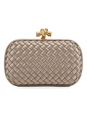 Bottega Veneta Small Intrecciato Impero Satin Knot Clutch Bag