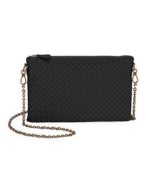 Bottega Veneta chain leather clutch