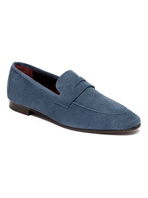 Bougeotte Bee Stud Suede Penny Loafers