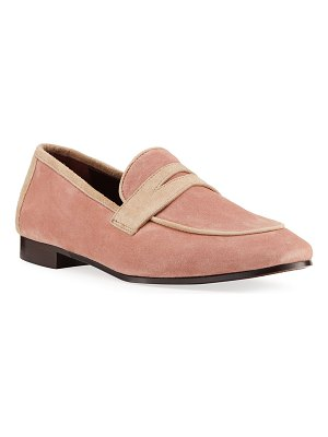 Bougeotte Bicolor Suede Penny Loafers
