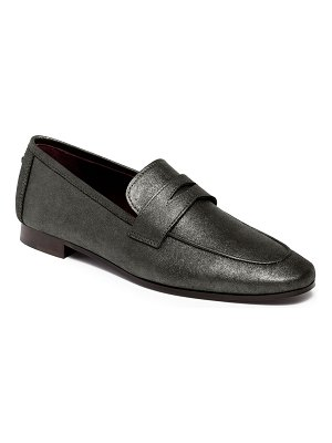 Bougeotte Brushed Metal Leather Penny Loafers