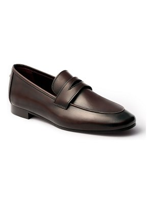 Bougeotte Calfskin Leather Penny Loafers
