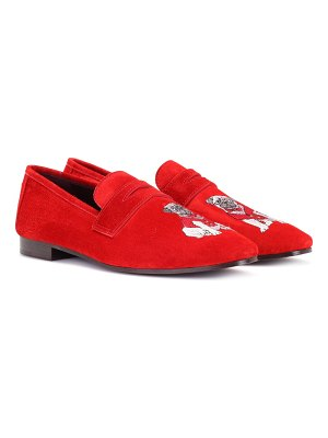 Bougeotte embroidered suede loafers
