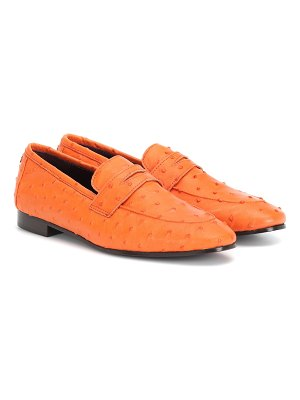 Bougeotte Exclusive to Mytheresa – Flaneur ostrich leather loafers