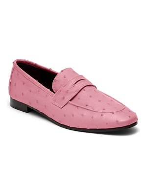 Bougeotte Flaneur Ostrich Slip-On Flat Loafers