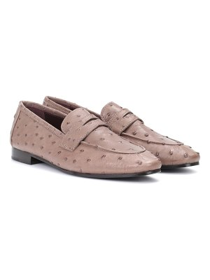 Bougeotte Ostrich leather loafers