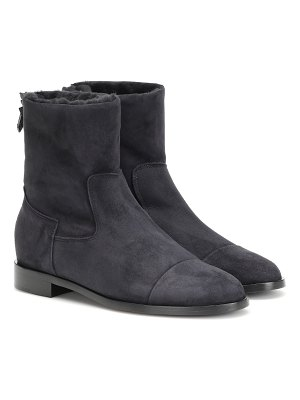 Bougeotte suede and shearling ankle boots