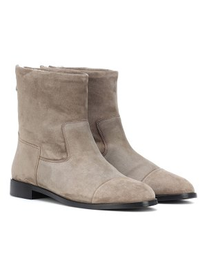 Bougeotte Exclusive to Mytheresa – suede and shearling ankle boots