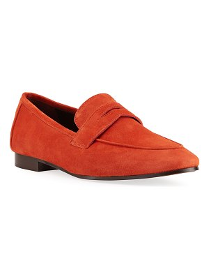 Bougeotte Suede Penny Loafers