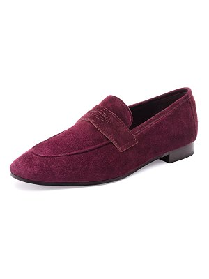 Bougeotte Suede Slip-On Penny Loafer