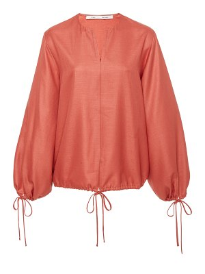 Bouguessa tie-up puffed sleeves top