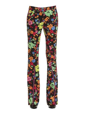 Boutique Moschino Boot cut floral printed interlock pants