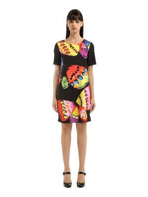 Boutique Moschino Butterfly print cady dress