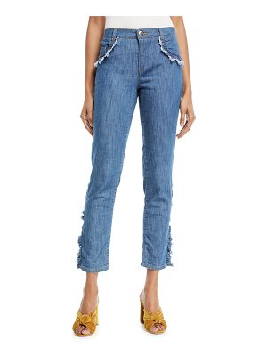 Boutique Moschino Frayed-Trim Crop Jeans