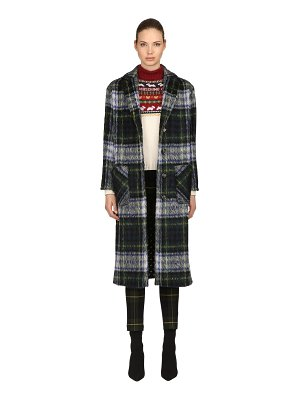 Boutique Moschino Oversized wool blend plaid coat
