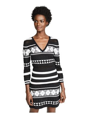 Boutique Moschino patterned stripe dress