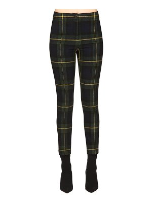 Boutique Moschino Wool plaid cigarette pants