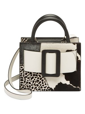 Boyy bobby patchwork calf hair & leather tote