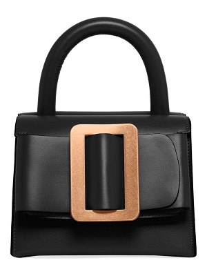 Boyy double compartment leather top handle bag