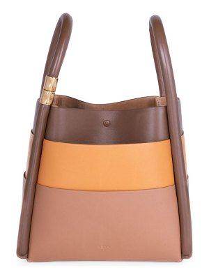 Boyy lotus colorblock leather tote