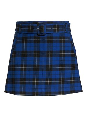 BP. belted plaid skirt