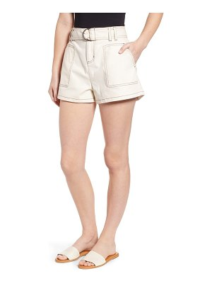 BP. belted twill shorts