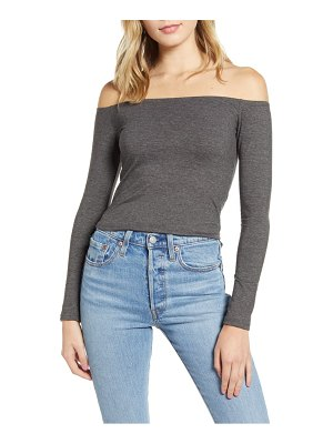 BP. off the shoulder crop top