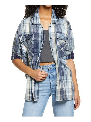 BP. oversized plaid shirt