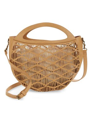 BP. perforated faux leather crossbody canteen bag