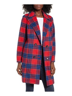 BP. plaid double breasted coat