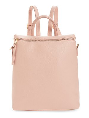 BP. square faux leather backpack