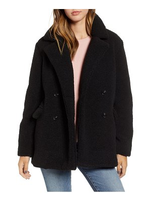 BP. textured double breasted coat